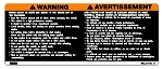 1992-1997 Yamaha VMAX-4  Snowmobile Reproduction Decals- Warning Dash Decal