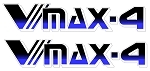 1996 VMAX-4  Snowmobile Reproduction Decals- VMAX-4 Side Decal