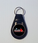 Alouette Sled Medallion Style Leather Keychain