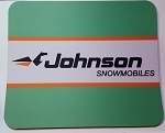 Vintage Johnson Snowmobiles Full Color Mouse Pad