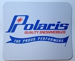 Vintage Polaris Quality Snowmobiles Full Color Mouse Pad