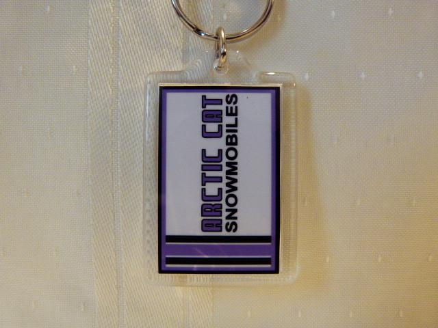 Arctic Cat Dealer Sign Keychain-Acrylic