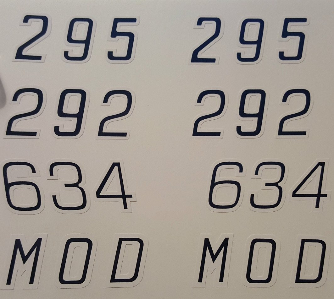 Arctic Cat Engine Size Number Decals