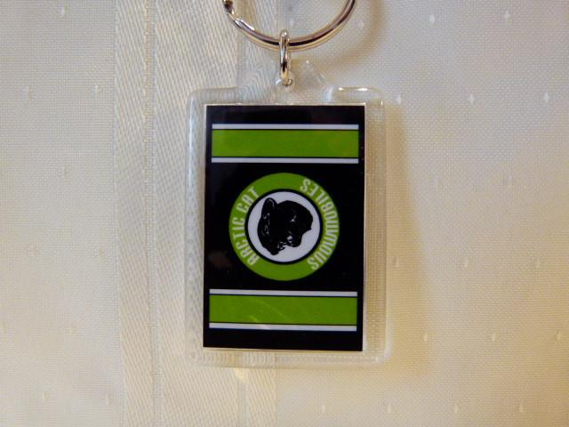 Arctic Cat Green Head Logo Keychain-Acrylic