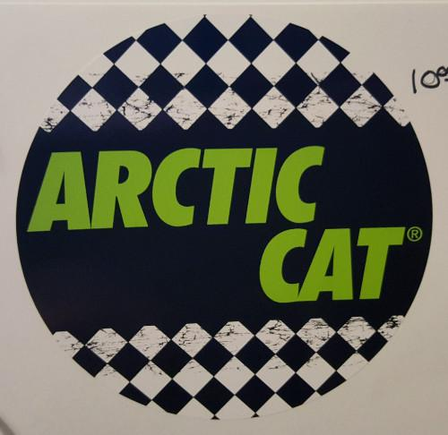 Arctic Cat Logo with Checkered Flag