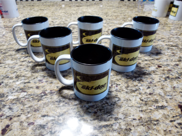 Clearance Less-Than-Perfect Ski-Doo Dealer Logo Mug Collection