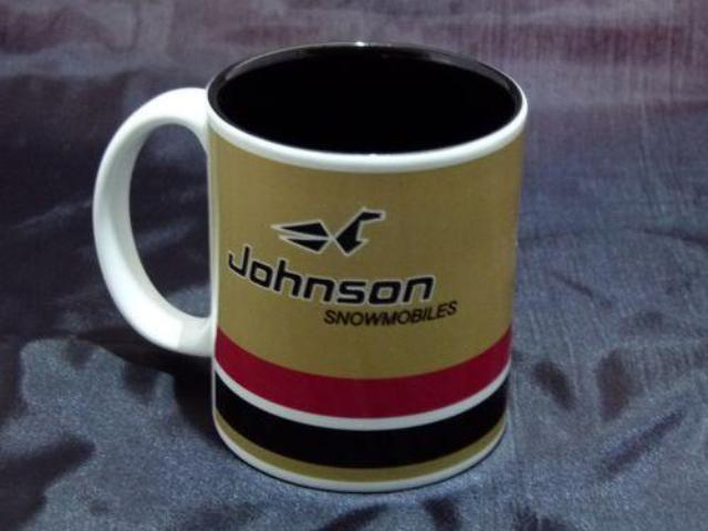 Johnson Golden Ghost Logo Ceramic Coffee Mug