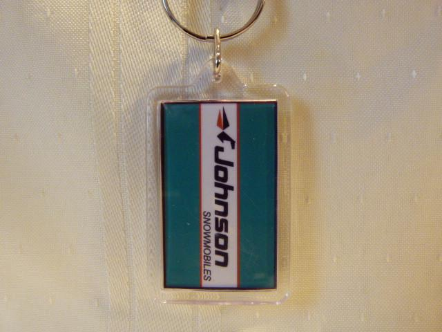 Johnson Acrylic Snowmobile Keychain