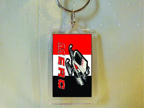 MERC SnoTwister Acrylic Keychain-with Snowmobile