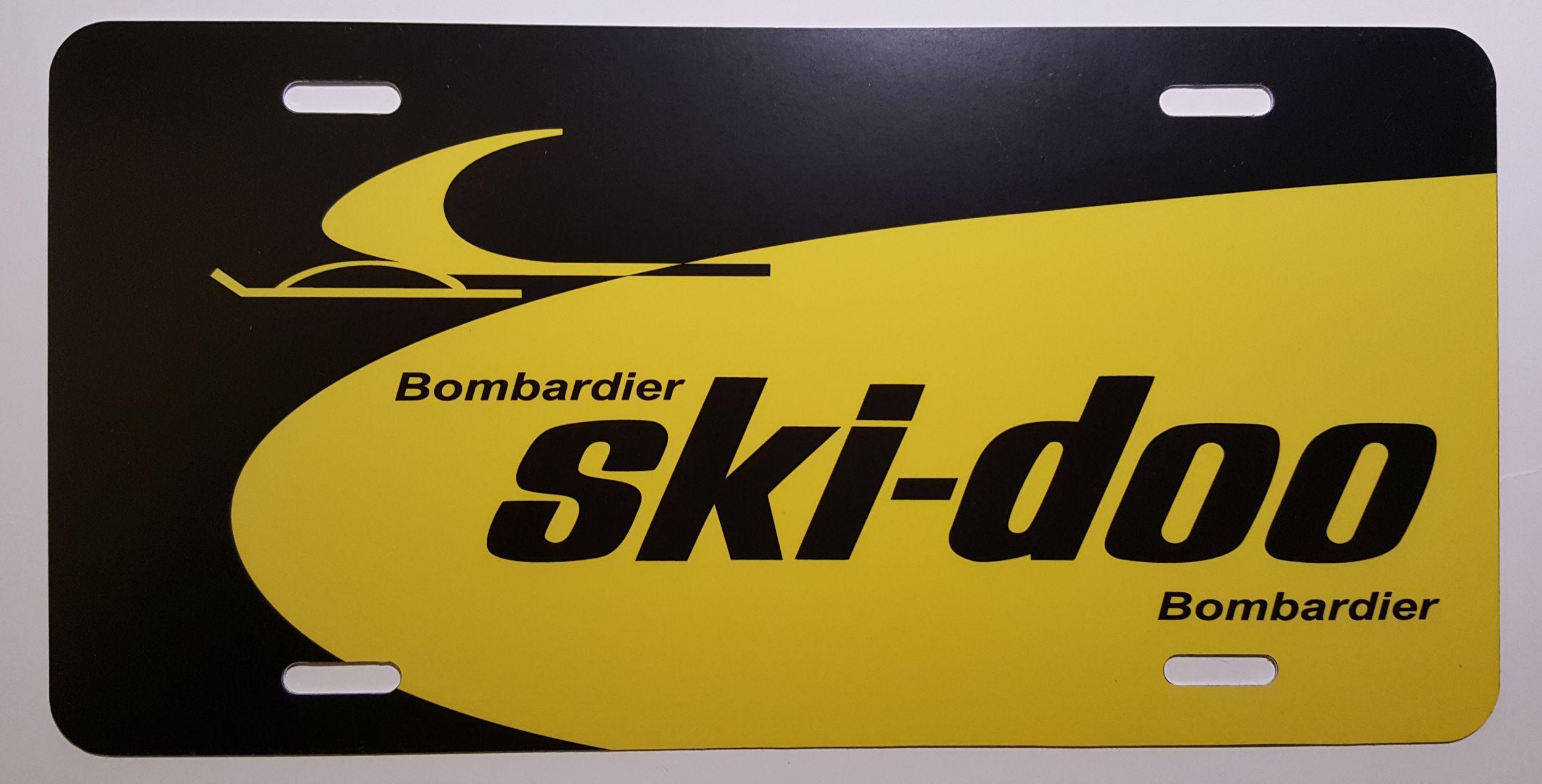 Ski Doo Dealer Logo Vintage Snowmobile License Plate