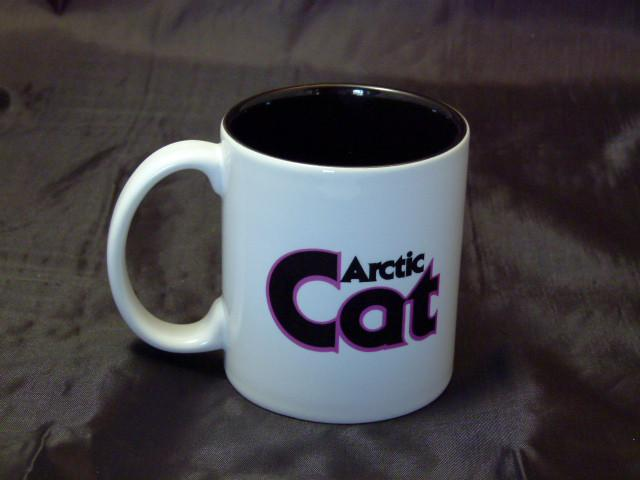 Pink Arctic Cat Ceramic Coffee Mug