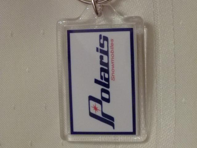 Polaris Words Logo Keychain-Acrylic