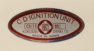 Reproduction Kokusan Denki CDI Box Chrome Decal-Polaris/Suzuki/Yamaha