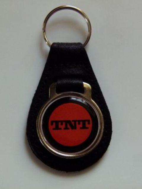 Reproduction Vintage Ski Doo TNT Snowmobile Medallion Style Leather Keychain