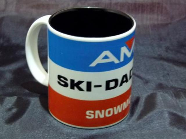 Ski-Daddler Stripe Logo Ceramic Coffee Mug