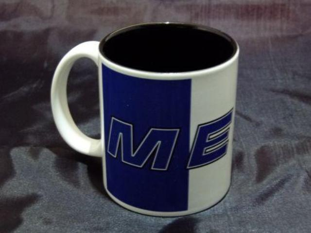 Vintage Blue MERC Logo Ceramic Coffee Mug
