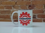 Bombardier Red Gear Logo Ceramic Coffee Mug