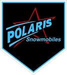 Polaris Snowmobiles Blue Star Black