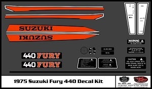 75 Suzuki Fury 440 Decal Kit