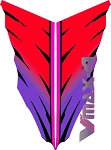1993 VMAX-4  Snowmobile Reproduction Decals- Side Decals