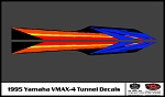 1995 VMAX-4 Snowmobile Tunnel Decals
