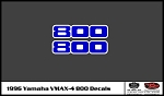 1996 VMAX-4 Snowmobile 800 Headlight Pod Decal Set