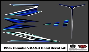 1996 VMAX-4 Snowmobile Hood Decal Kit