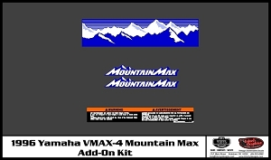 1996 VMAX-4 Mountain Max Add-On Decal Kit