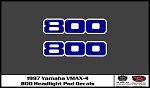 1997 VMAX-4 Snowmobile Pod Light Decals