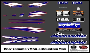 1997 VMAX-4 Mountain Max Snowmobile Decal Kit