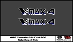 1997 VMAX-4 Snowmobile Side Panel Decals