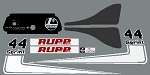 71 RUPP Sprint 44 Decal Kit