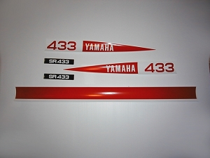 71 YAMAHA SR 433 Decal Kit