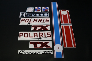 71 Polaris TX Charger 300 Decal Kit