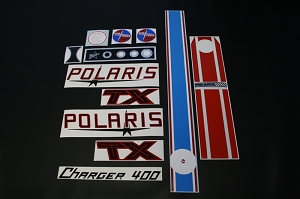 71 Polaris TX Charger 400 Decal Kit