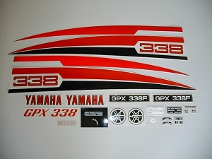 74 YAMAHA GPX 338F Decal Kit