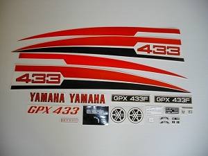74 YAMAHA GPX 433F Decal Kit