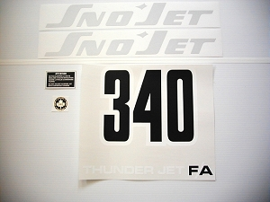 74 SNO*JET Thunderjet F/A 340 Decal Kit