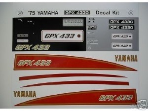 75 YAMAHA GPX 433G Decal Kit