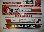 75 RUPP Nitro 340 F/A Decal Kit