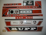 75 RUPP Nitro 440 F/A Decal Kit