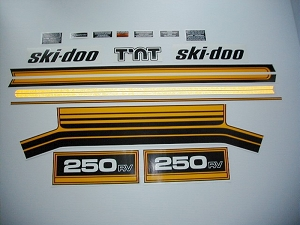 76 Ski Doo RV 250 Decal Kit