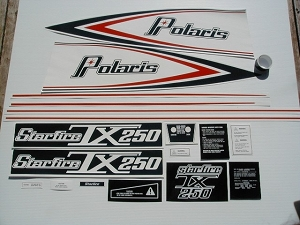 76 Polaris 250 TX Starfire Decal Kit