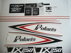 76 Polaris 250 TX Decal Kit