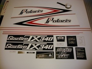 76 Polaris 340 TX Starfire Decal Kit