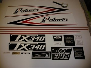 76 Polaris 340 TX Decal Kit