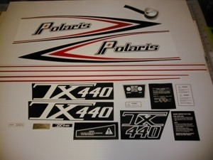 76 Polaris 440 TX Decal Kit
