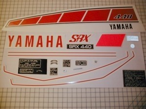 76 YAMAHA SRX 440 - CDN Decal Kit
