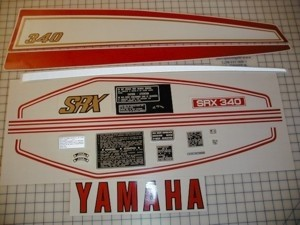 76 YAMAHA SRX 340 - US Decal Kit