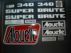 76 Alouette Super Brute 250 Decal Kit